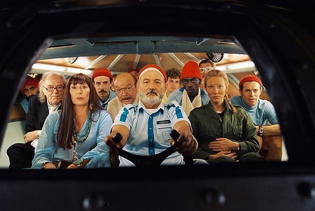 Bill Murray, Willem Dafoe, Cate Blanchett, Bud Cort, Anjelica Huston, Noah Taylor, and Seu Jorge in The Life Aquatic with Steve Zissou (2004)