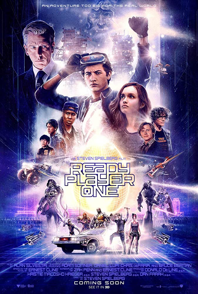 Ben Mendelsohn, Simon Pegg, Mark Rylance, Lena Waithe, Win Morisaki, Tye Sheridan, Olivia Cooke, and Philip Zhao in Ready Player One (2018)