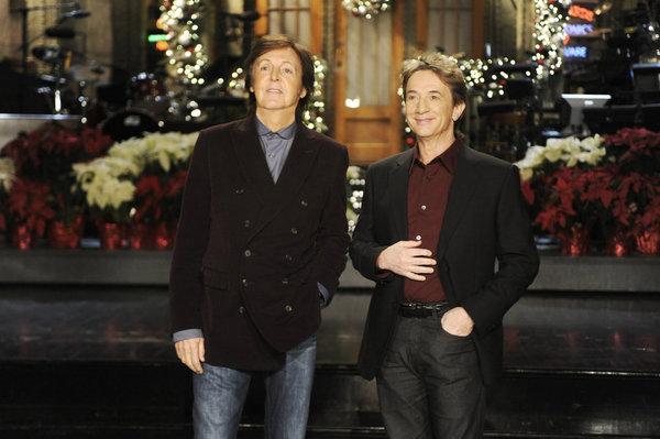 Martin Short and Paul McCartney in Saturday Night Live (1975)