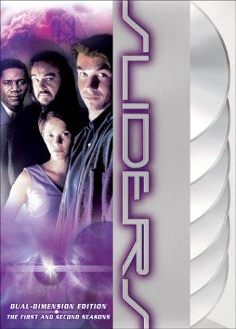 Sabrina Lloyd, Jerry O'Connell, Cleavant Derricks, and John Rhys-Davies in Sliders (1995)