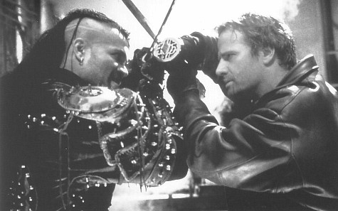 Christopher Lambert and Mario Van Peebles in Highlander: The Final Dimension (1994)