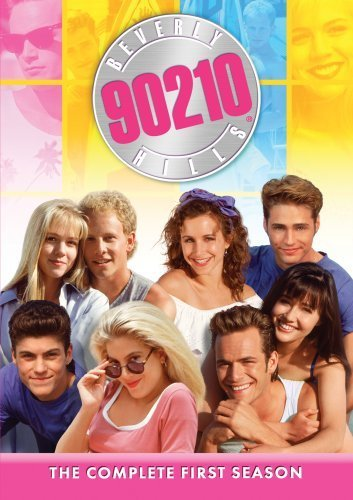 Luke Perry, Jason Priestley, Shannen Doherty, Jennie Garth, Tori Spelling, Brian Austin Green, Ian Ziering, and Gabrielle Carteris in Beverly Hills, 90210 (1990)