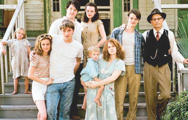 Viggo Mortensen, Elisabeth Moss, Amy Adams, Sam Riley, Kristen Stewart, and Garrett Hedlund in On the Road (2012)