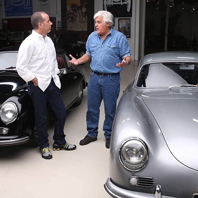 Jerry Seinfeld and Jay Leno in Jay Leno's Garage (2015)