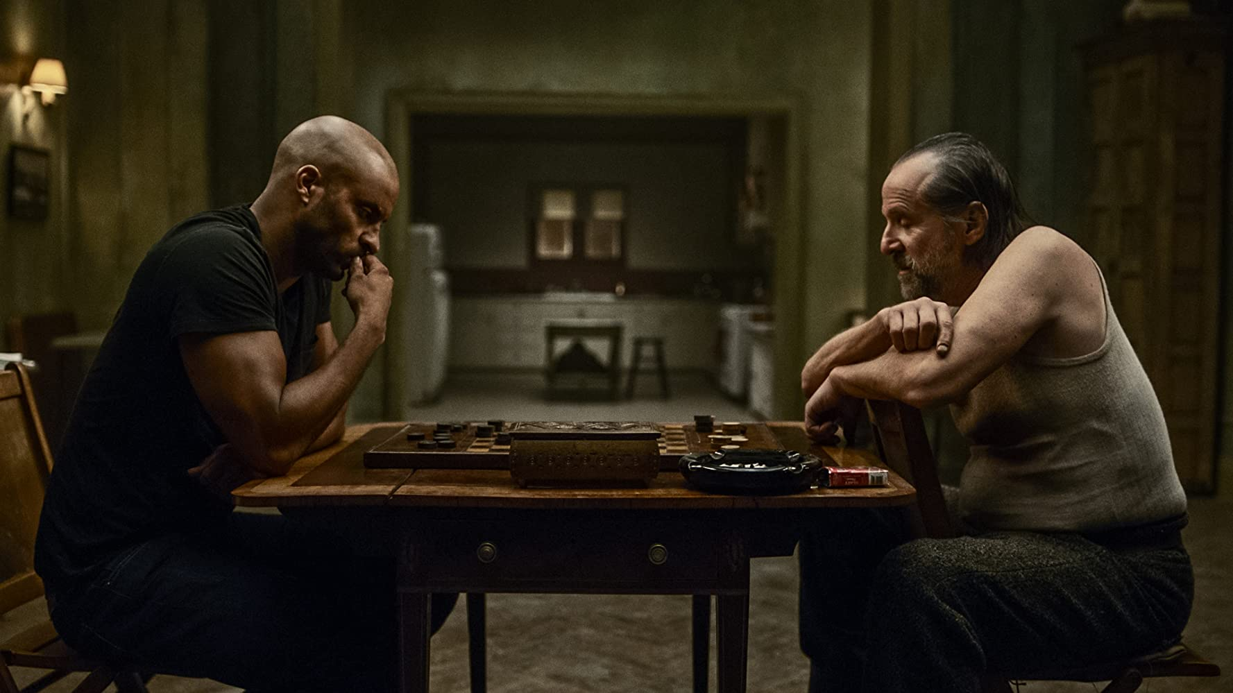 Peter Stormare and Ricky Whittle