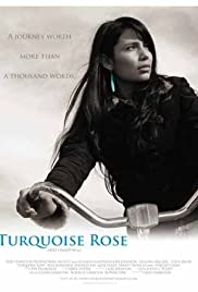 Turquoise Rose Poster