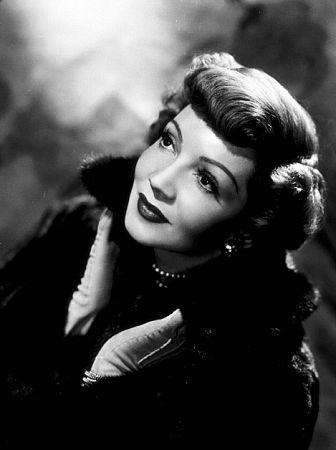 Claudette Colbert, circa 1946.