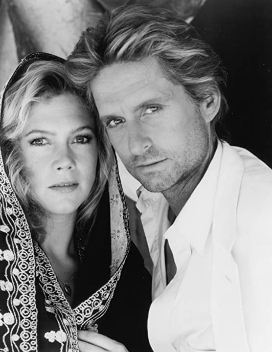 Michael Douglas and Kathleen Turner in The Jewel of the Nile (1985)