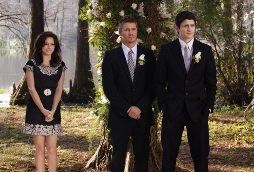 James Lafferty, Bethany Joy Lenz, and Chad Michael Murray in One Tree Hill (2003)