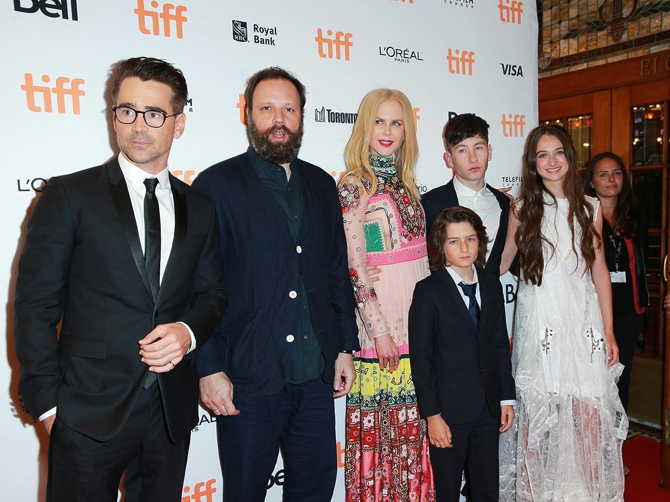Nicole Kidman, Colin Farrell, Yorgos Lanthimos, Raffey Cassidy, Barry Keoghan, and Sunny Suljic