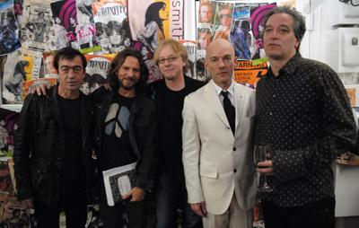 Michael Stipe, Bill Berry, Peter Buck, Mike Mills, and Eddie Vedder