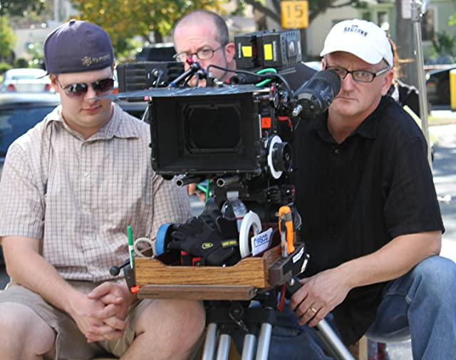 On the set of Meant to Be, outside the coffee shop scene.