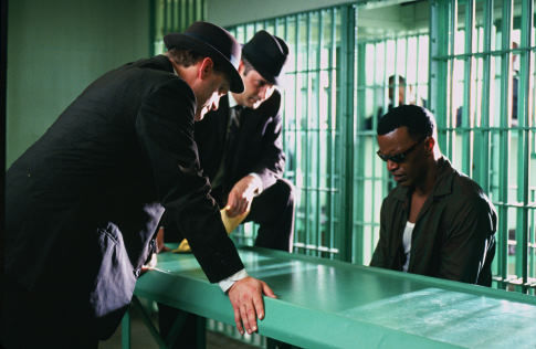 Ray Charles (JAMIE FOXX) is arrested for heroin possession in the musical biographical drama, Ray.