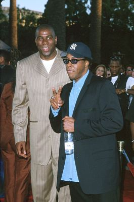 Arsenio Hall and Magic Johnson at Nutty Professor II: The Klumps (2000)