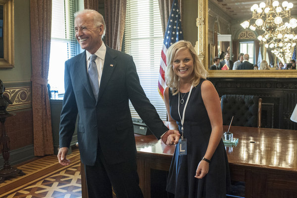 Joe Biden and Amy Poehler in Parks and Recreation (2009)
