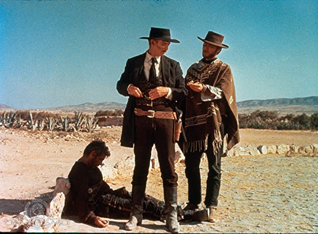 Clint Eastwood, Lee Van Cleef, and Gian Maria Volontè in For a Few Dollars More (1965)