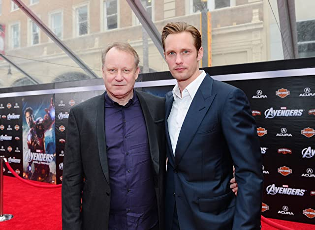 Stellan Skarsgård and Alexander Skarsgård at The Avengers (2012)