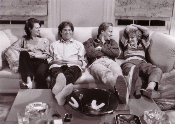 Kevin Kline, Glenn Close, William Hurt, and JoBeth Williams in The Big Chill (1983)
