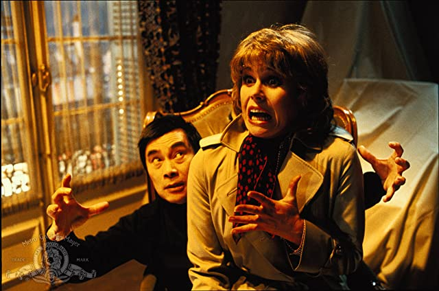 Burt Kwouk and Joanna Lumley in Trail of the Pink Panther (1982)