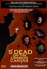 5 Dead on the Crimson Canvas Poster