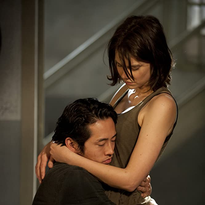 Lauren Cohan and Steven Yeun in The Walking Dead (2010)