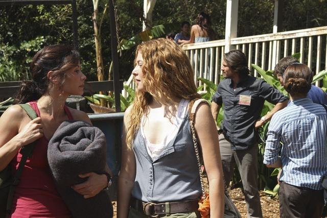 Caroline Dhavernas, Rachelle Lefevre, Valerie Cruz, and Zach Gilford in Off the Map (2011)