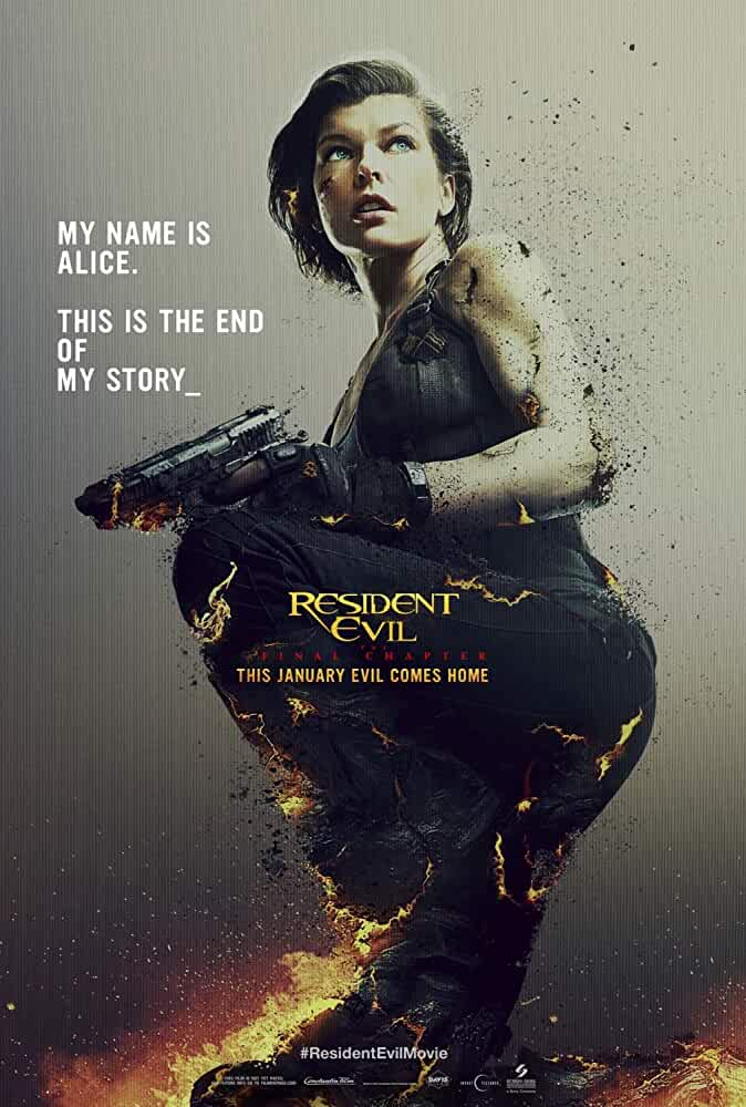 Poster Resident Evil The Final Chapter (2017) Full Hindi Movie Download Dual Audio