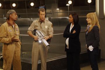 Colin Ferguson, Joe Morton, Jaime Ray Newman, and Salli Richardson-Whitfield in Eureka (2006)