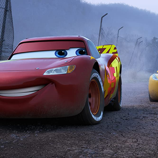Owen Wilson and Cristela Alonzo in Cars 3 (2017)