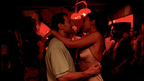 Albert Dupontel as Pierre, and Monica Bellucci as Alex in the Gaspar Noé film IRREVERSIBLE.