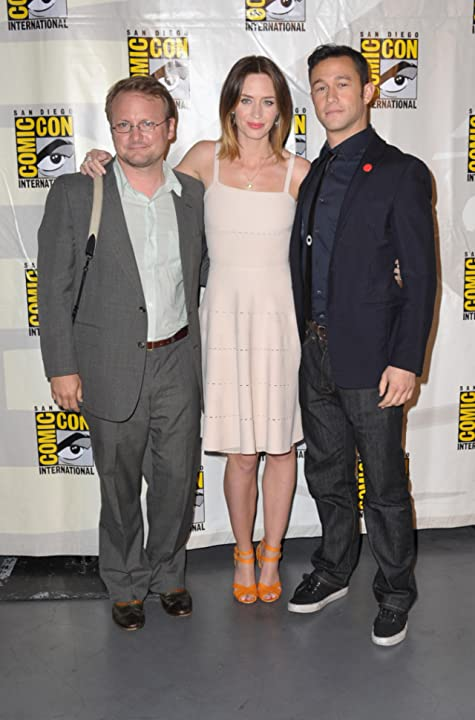 Joseph Gordon-Levitt, Rian Johnson, and Emily Blunt at Looper (2012)
