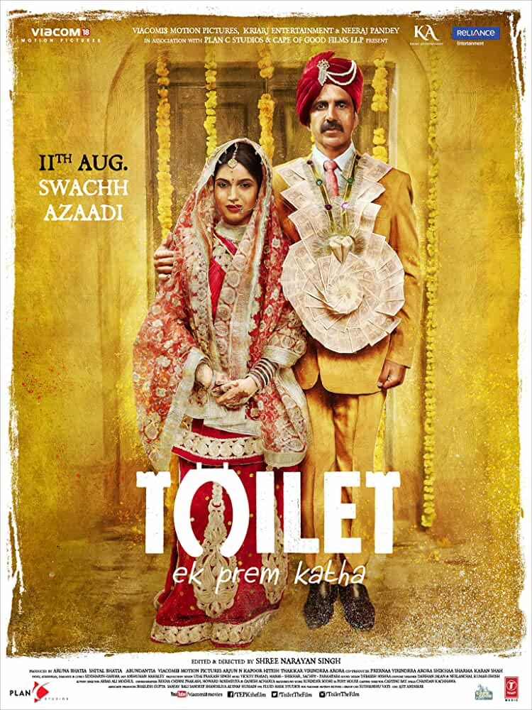 Poster Toilet Ek Prem Katha (2017) Full HD Movie Download Free