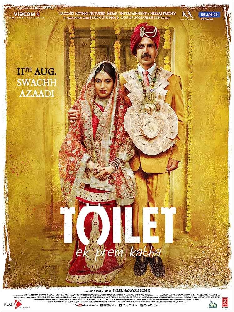 Poster Toilet Ek Prem Katha 2017 Full Hindi Movie Download HD Free 720p