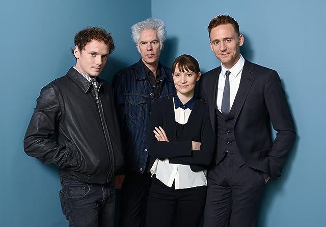 Jim Jarmusch, Anton Yelchin, Tom Hiddleston, and Mia Wasikowska at Only Lovers Left Alive (2013)