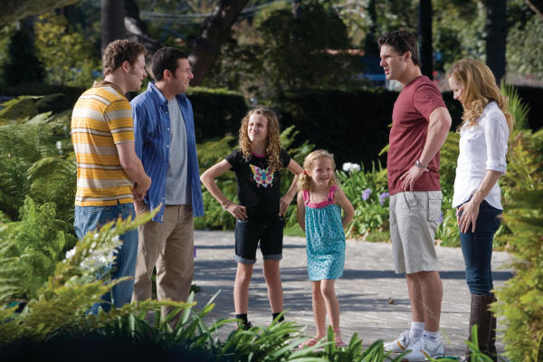 Adam Sandler, Leslie Mann, Eric Bana, Seth Rogen, Maude Apatow, and Iris Apatow in Funny People (2009)