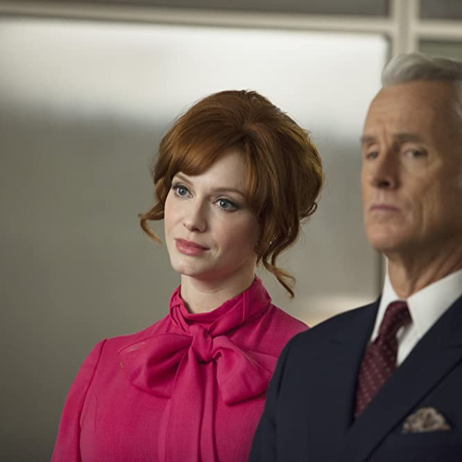 Christina Hendricks and John Slattery in Mad Men (2007)