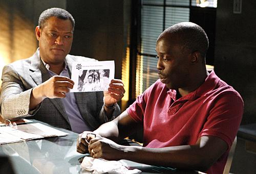 Laurence Fishburne and Michael Kenneth Williams in CSI: Crime Scene Investigation (2000)