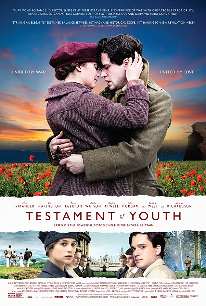 Alicia Vikander and Kit Harington in Testament of Youth (2014)