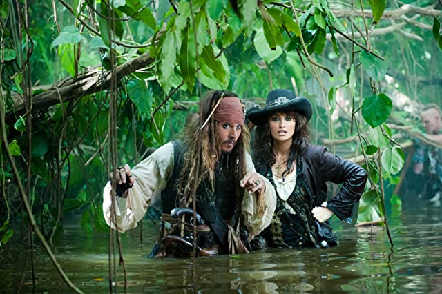 Johnny Depp and Penélope Cruz in Pirates of the Caribbean: On Stranger Tides (2011)