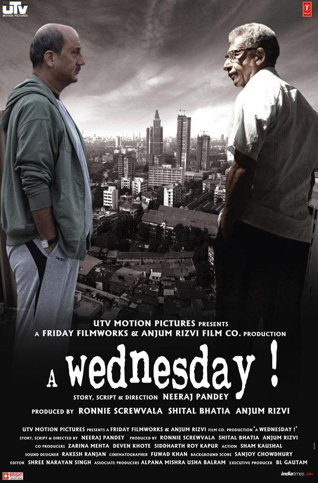 A Wednesday 2008 Hindi 720p BluRay 300MB Movies