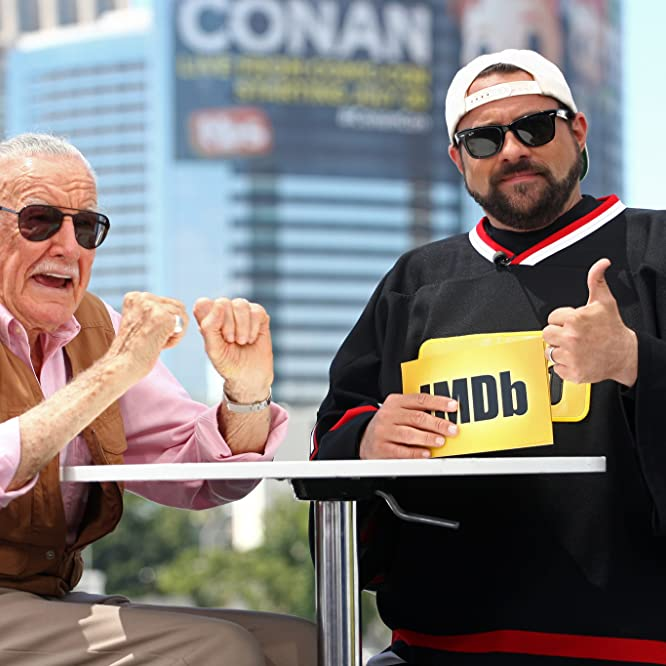 Kevin Smith and Stan Lee at an event for IMDb at San Diego Comic-Con (2016)