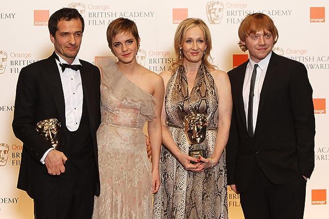 Rupert Grint, David Heyman, J.K. Rowling, and Emma Watson