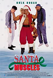 Santa with Muscles Poster