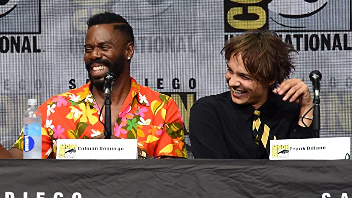 Frank Dillane and Colman Domingo at an event for Fear the Walking Dead (2015)