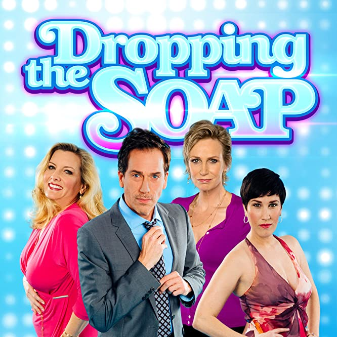 Suzanne Friedline, Jane Lynch, Paul Witten, and Kate Mines in Dropping the Soap (2015)