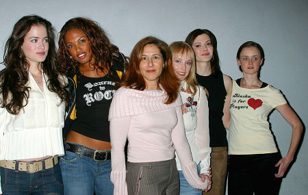 The Cast Of Dysenchanted at the Los Angeles Premiere - Left to Right - Jill Small, KD Aubert, Terri Miller (Writer/Director), Jamie Bergman, Laura Kightlinger and Alexis Bledel.