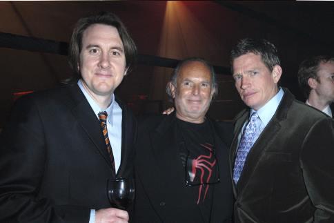 Thomas Haden Church, Avi Arad, and Grant Curtis at Spider-Man 3 (2007)