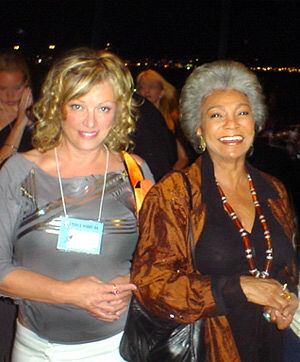 Vanna Bonta and Nichelle Nichols at The World Space Party (Yuri's Night, Los Angeles) on 12 April, 2004