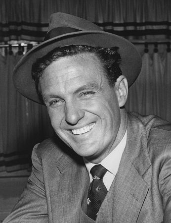 Robert Stack on the set of