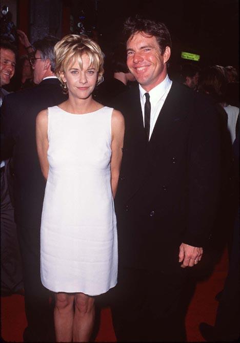 Meg Ryan and Dennis Quaid at French Kiss (1995)